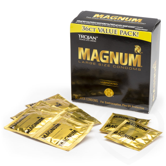 Trojan Magnum Large Condoms (36 Pack) - Trojan