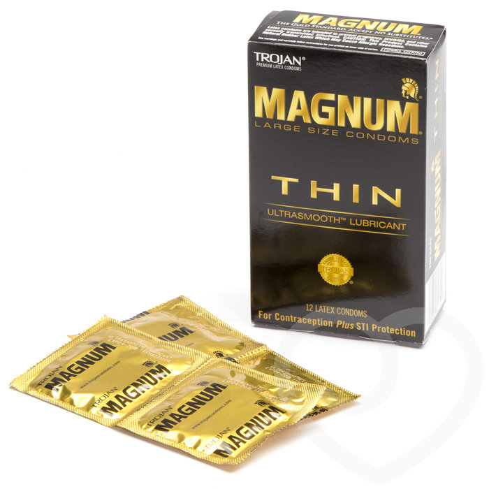 Trojan Magnum Large Ultra Thin Condoms (12 Pack) - Trojan