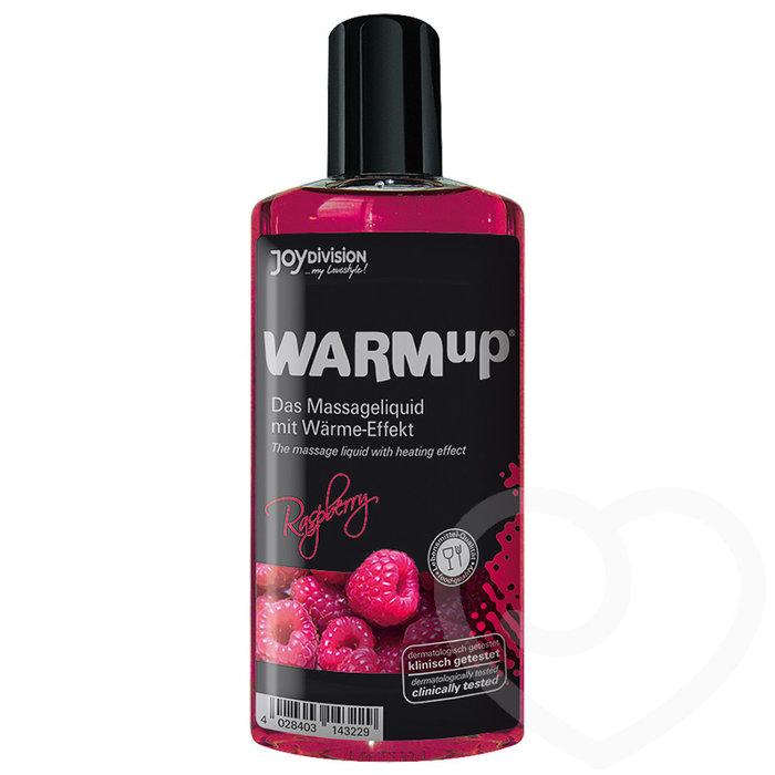 Warming Raspberry Flavoured Massage Lubricant 150ml - Unbranded