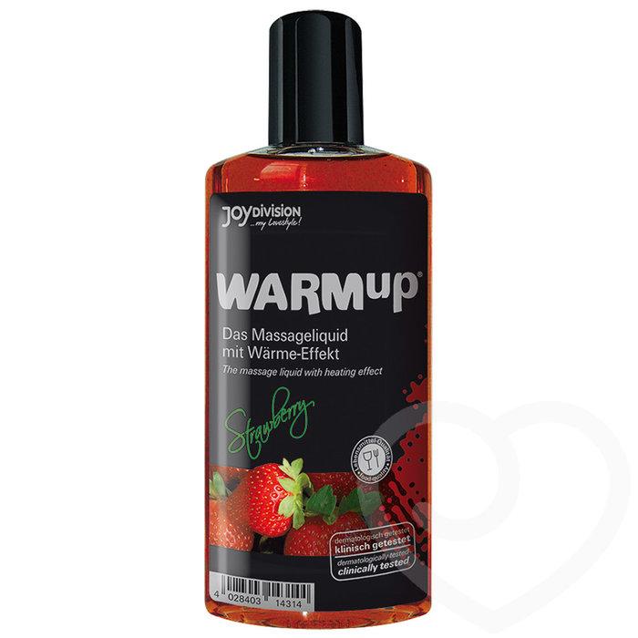 Warming Strawberry Flavoured Massage Lubricant 150ml - Unbranded