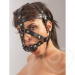 Zado Leather Head Harness and Ball Gag - Zado