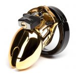 CB-6000S Designer Gold Short Male Chastity Cage Kit - CB Chastity Devices