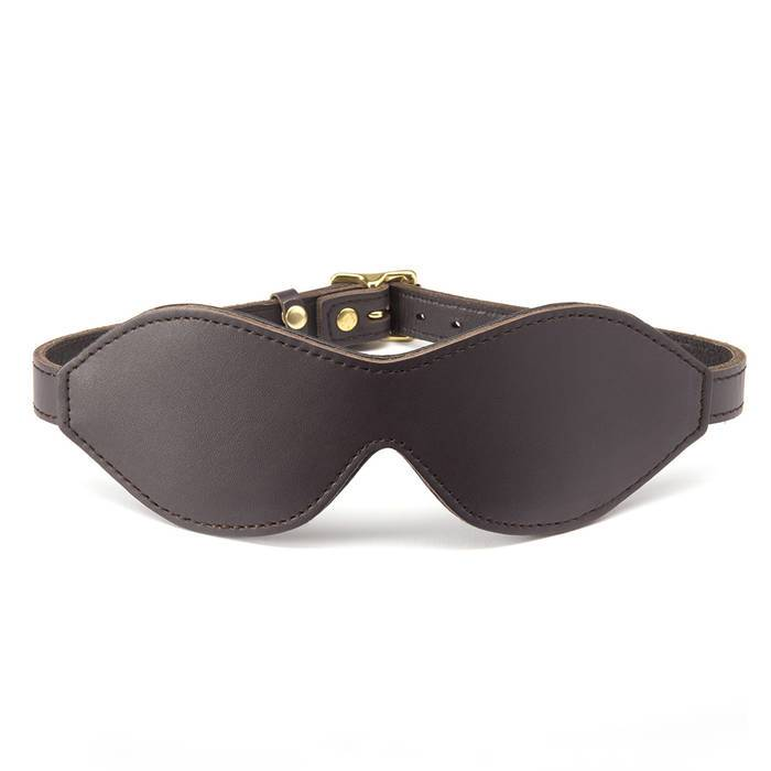Coco de Mer Brown Leather Blindfold - Coco de Mer