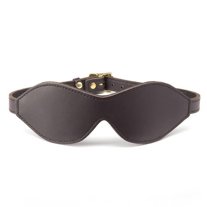 Coco de Mer Brown Leather Blindfold - Coco de Mer
