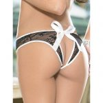 Crotchless Open Back French Maid Knickers - Escante