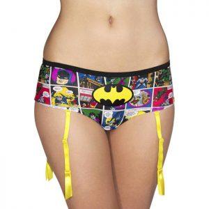 DC Comics Batman Comic Strip Suspender Shorts