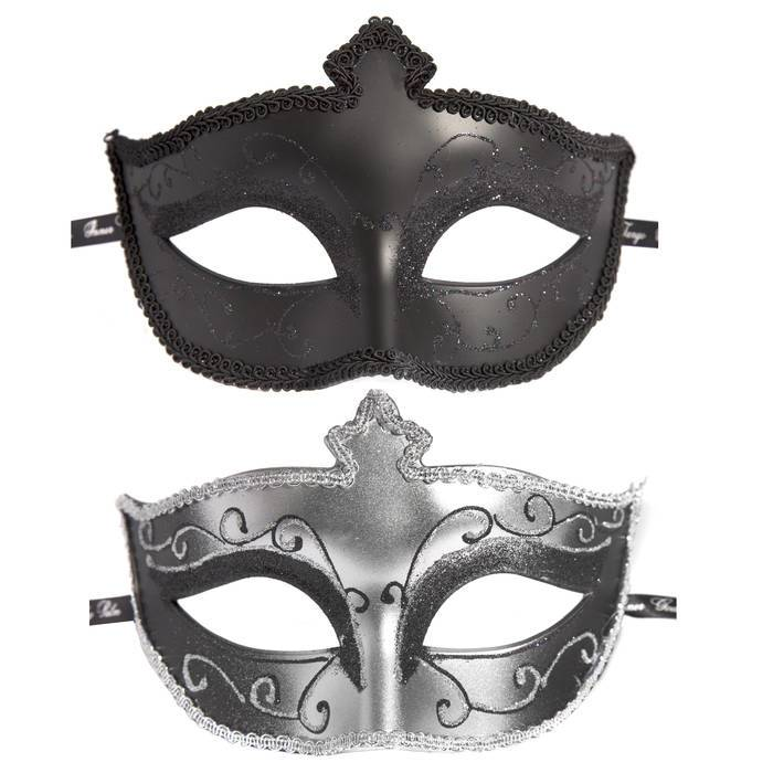 Fifty Shades of Grey Masks On Masquerade Mask (Twin Pack) - Fifty Shades of Grey