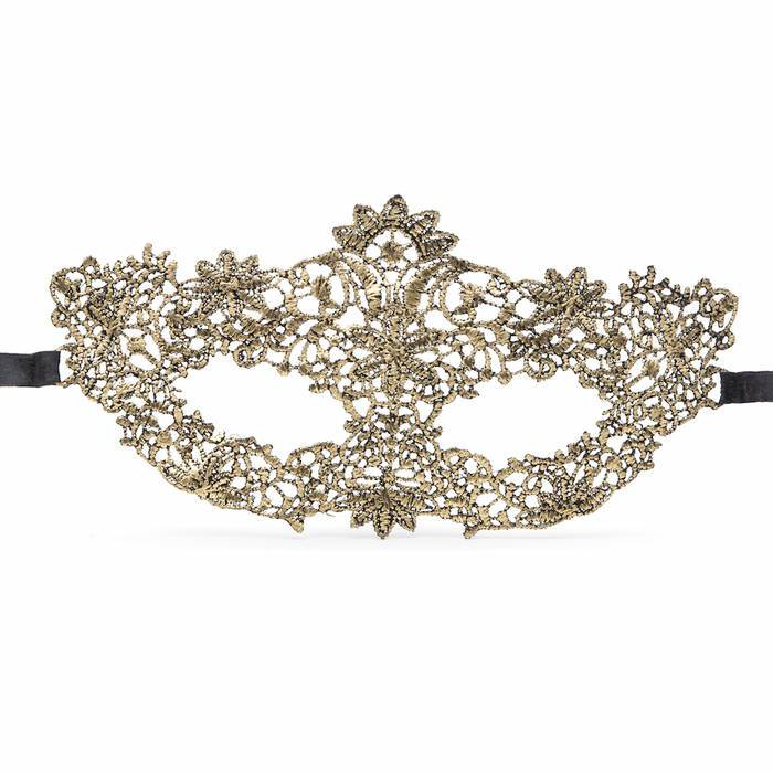 Gold Masquerade Lace Mask - Dreamgirl Lingerie