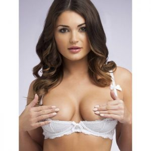 Lovehoney Love Me Lace White 1/2 Cup Bra