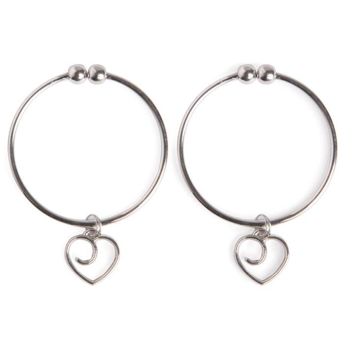Lovehoney Tease Me Advanced Nipple Clamps with Heart Charms - Lovehoney