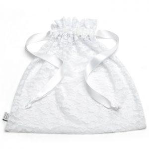 Lovehoney White Lace Drawstring Lingerie Gift Bag