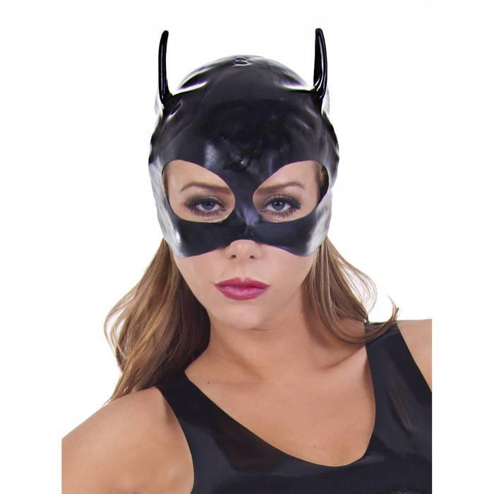 Rubber Girl Latex Cat Mask - Rubber Girl Latex