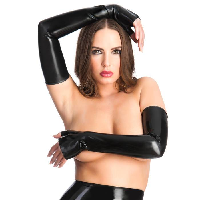 Rubber Girl Latex Extra Long Latex Gauntlets - Rubber Girl Latex