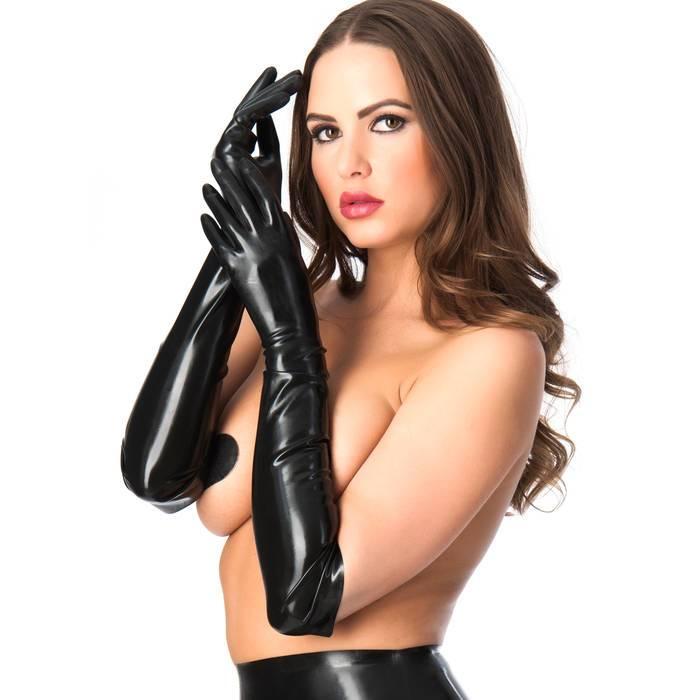 Rubber Girl Latex Long Latex Gloves - Rubber Girl Latex