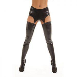 Rubber Girl Latex Retro High Waisted Suspender Belt