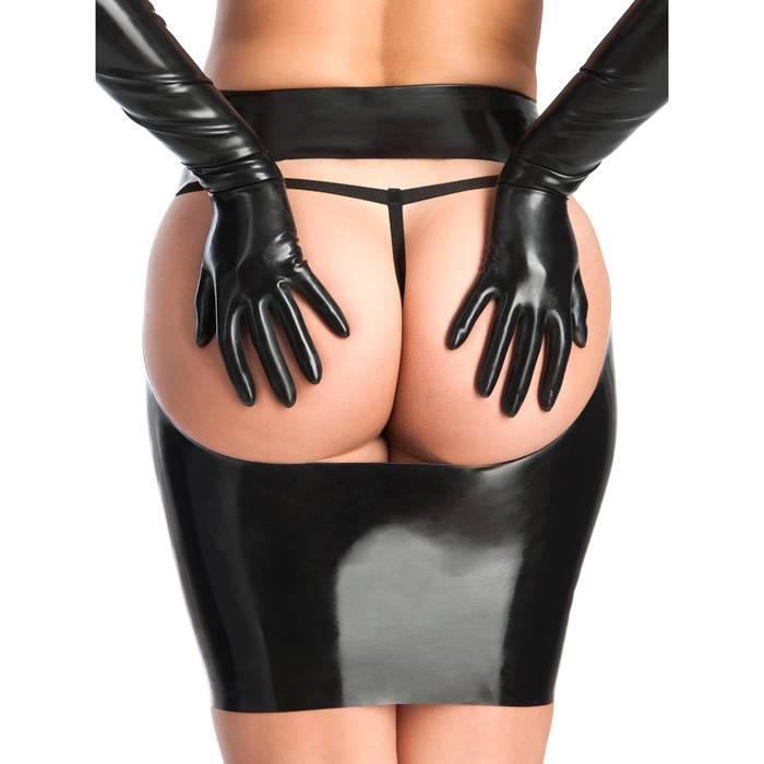 Rubber Girl Latex Spanking Mini Skirt - Rubber Girl Latex