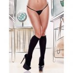Sheer Knee High Socks Black - Baci Lingerie