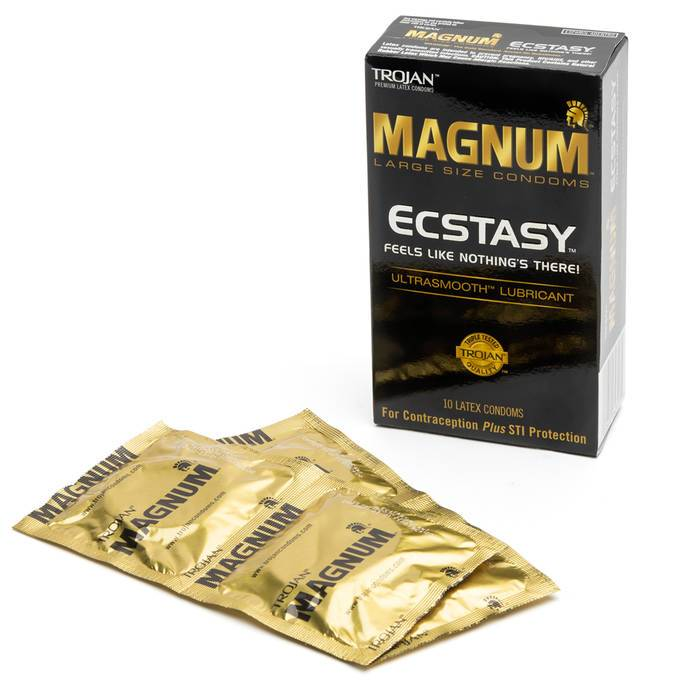 Trojan Magnum Ecstasy Ultra Thin Large Condoms (10 Pack) - Trojan