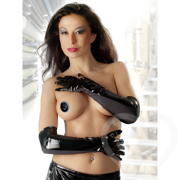 Black Level Elbow Length PVC Gloves - Black Level