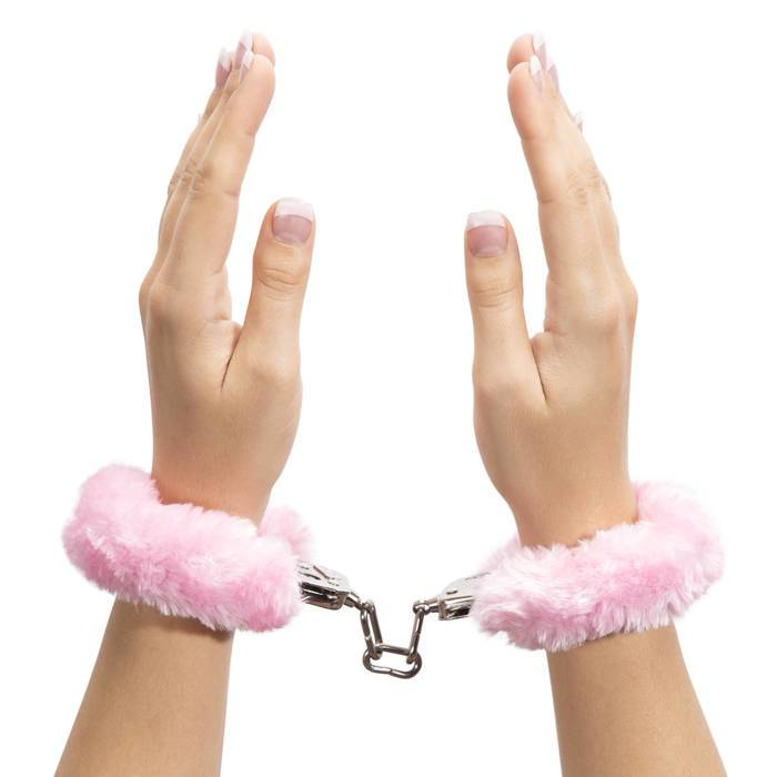 Bondage Boutique Pink Furry Handcuffs - Bondage Boutique