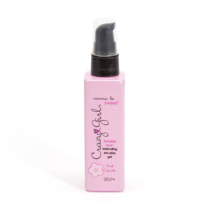 Crazy Girl Pink Cupcake Flavoured Warming Lubricant 99.9ml - Crazy Girl