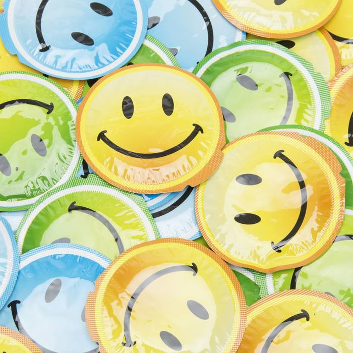 EXS Smiley Face Condoms (100 Pack) - EXS Condoms