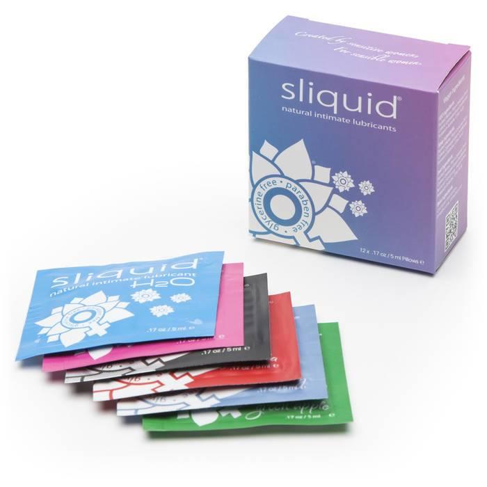 Sliquid Naturals Lube Cube Lubricant Sachets (12 Pack) - Sliquid