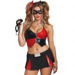 Dreamgirl Red and Black Harlequin Costume - Dreamgirl Costumes