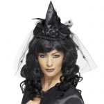 Fever Black Mini Witch Hat - Fever Costumes