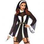 Leg Avenue Black Naughty Nun Set - Leg Avenue