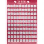 100 Dates Scratch Off Bucket List Poster - Unbranded