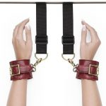 Bondage Boutique Faux Snakeskin Over-the-Door Cuffs - Bondage Boutique