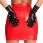 Rubber Girl Black Latex Gloves - Rubber Girl Latex
