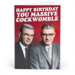 Happy Birthday Cockwomble... Adult Greetings Card - Unbranded