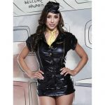 Baci Lingerie Wet Look Mile High Club Costume - Baci Lingerie