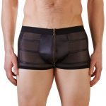 Svenjoyment Wet Look Black Zip-Up Boxer Shorts - Svenjoyment